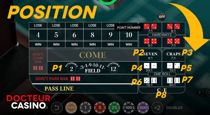 One roll bet Craps live